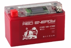 Аккумулятор Red Energy DS 1208 8А/ч ( YT7B-BS,YT7B-4,YT9B-BS ) пп Ток 120А (150*87*107)